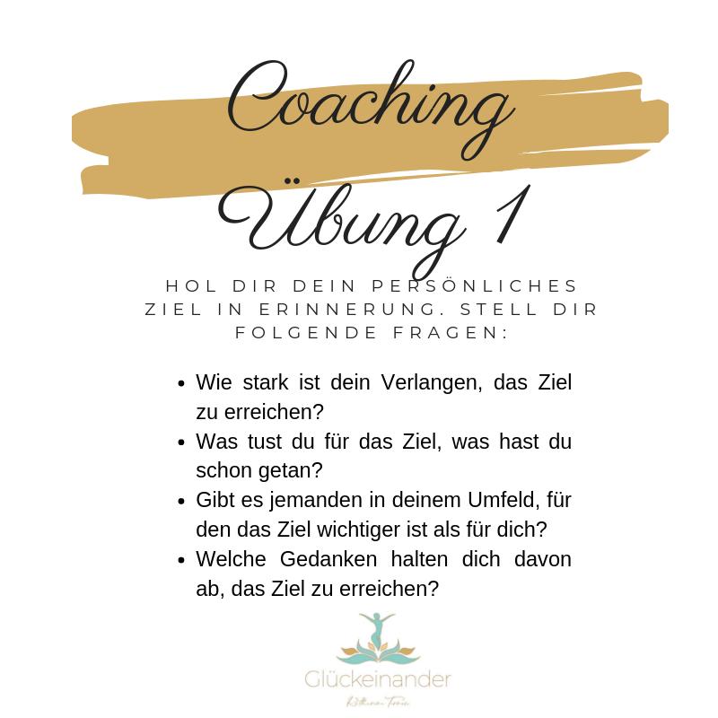 Coaching Übung 1 Ziele erreichen